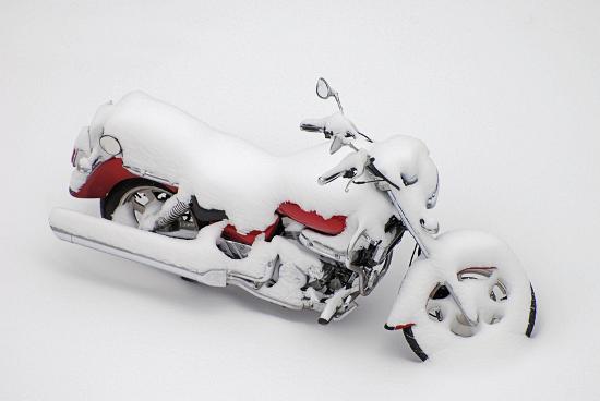 Motorrad Wintereinlagerung